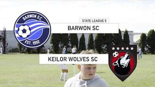 Barwon vs Keilor Wolves - state league, 5 round 1