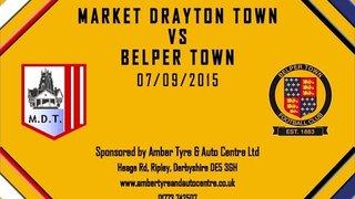 Market Drayton Town FC 1 - 0 Belper Town 7th November 2015 Highlights
