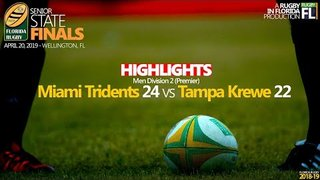 2019 Florida Finals | Men D2 | Tridents 24 vs Tampa 22 - Highlights