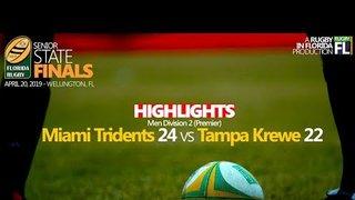 2019 Florida Finals | Men D2 | Tridents 24 vs Tampa 22 - Highlights