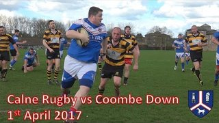 Calne RFC vs Coombe Down - 01/04/17 Rugby Match
