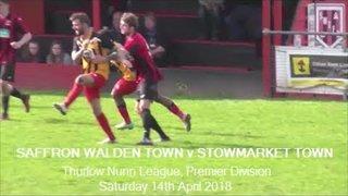 Saffron Walden Town v Stowmarket Town. Season 2017-18