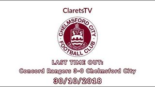 LAST TIME OUT: Concord Rangers 3-0 Chelmsford City - 30/10/2018