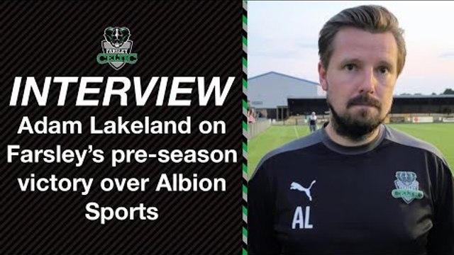 Post-Match Reaction: Adam Lakeland vs Albion Sports