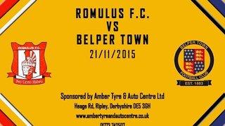 Romulus FC 2 - 3 Belper Town 21st November 2015 Highlights