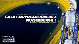 Gala Fairydean Rovers 3-1 Fraserburgh | William Hill Scottish Cup 2016/17 Round One
