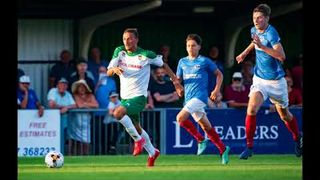 Jack Pearce and Robbie Blake after the 5-1 Pre-Season defeat to Portsmouth