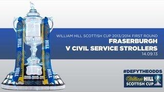 Fraserburgh 4-0 Civil Service Strollers // William Hill Scottish Cup First Round 2013/2014