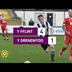 Y Fflint 4-1 Y Drenewydd | Cymru Premier