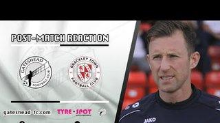 POST-MATCH REACTION: Williamson on Brackley win