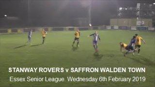 Stanway Rovers v Saffron Walden Town. Season 2018-19