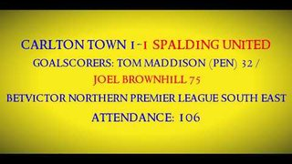1920 Carlton Town 1-1 Spalding United Match Highlights 25/09/2019