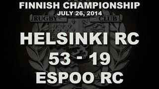 26/07/2014 Helsinki RC v Espoo RC | Finnish Men's Championship