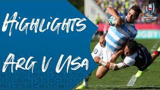Highlights: Argentina v USA - Rugby World Cup 2019