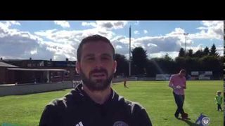 Ian Herring talks after the 2-0 defeat to Hemel Hempstead