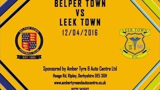 Belper Town 2 - 0 Leek Town 12th April 2016 Highlights