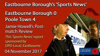 'Sports News': Eastbourne Borough 0 v 4 Poole Town – Jamie Howell's Post-match Comments