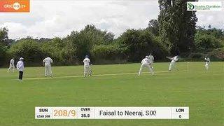 Neeraj Patel hit a massive Six vs LONDON STALIONS