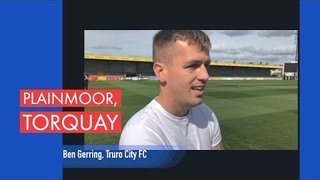 Ben Gerring speaks to Piran Films at Plainmoor, Torquay