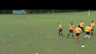 Basic Rugby Drills - Front on tackle drill