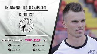 AUGUST PLAYER OF THE MONTH: JJ O'Donnell