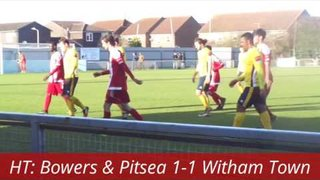 Bowers & Pitsea 1-5 Witham Town.  Ryman Isthmian League Division 1 North.  Mon2Jan2017