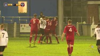 Diak John on the end of another Red card to level things up today against Truro City