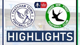 Thatcham Town FC vs Andover New Street FC | FA Cup Preliminary Round Highlights