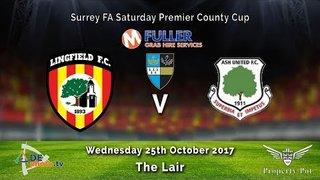 Lingfield FC 8v0 Ash Utd - Surrey County Cup - 25-10-2017 - Highlights