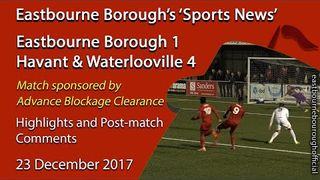 'Sports News': Eastbourne Borough 1 v 4 Havant & Waterlooville