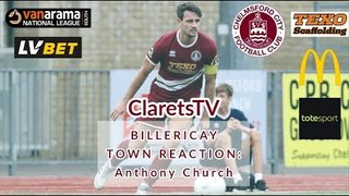 REACTION: Anthony Church - Post Billericay Town (H) - 02/09/2019