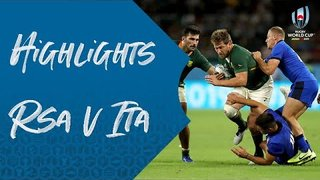 Highlights: South Africa v Italy - Rugby World Cup 2019