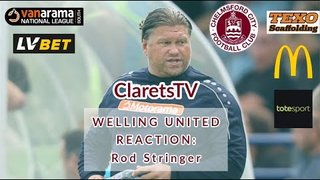 REACTION: Rod Stringer - Post Welling United (H) - 24/08/2019