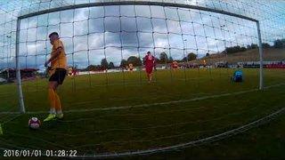 Cam 2 view of Tom Siddons' 2nd v Loughborough 290919