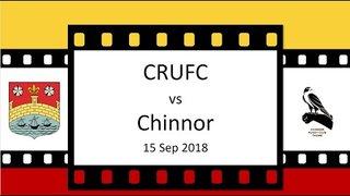 CRUFC vs Chinnor 15 Sep 18