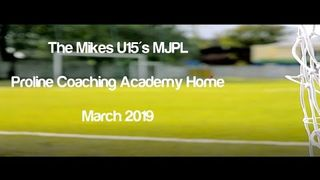 Boldmere St Michaels U15's MJPL v's Proline Academy Home