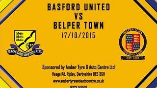 Basford United 3 - 0 Belper Town 17th October 2015 Highlights