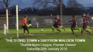 Thetford Town v Saffron Walden Town. Season 2017-18