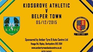 Kidsgrove Athletic 2 - 2 Belper Town 5th December 2015 Highlights
