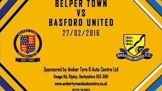 Belper Town 0 - 2 Basford United 27th February 2016 Highlights