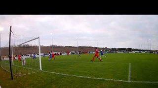 The other view of Ryan Seal's goal v Pontefract in the 1 1 draw 01 01 19