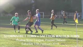 Stowmarket Town v Saffron Walden Town. Season 2017-18