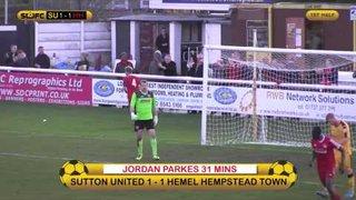 Highlights Sutton United 1 Hemel Hempstead 2 VCS 15/11/14