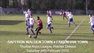 Saffron Walden Town v Fakenham Town. Season 2017-18