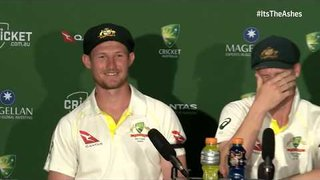 That presser - Bancroft gives his hilarious reaction to Jonny Bairstow 'headbutt' - The Ashes on BT Sport