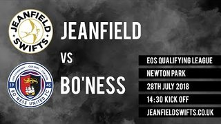 Bo'ness United Vs Jeanfield Swifts F.C. 0-2 | East of Scotland Cup Qualifying Game