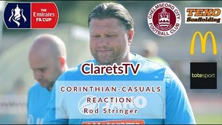 REACTION: Rod Stringer - Post Corinthian-Casuals (H) - 21/09/2019