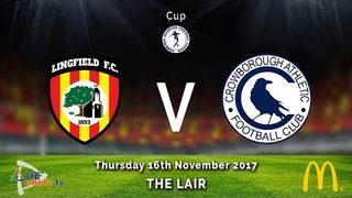 Lingfield FC u18 v Crowborough Athletic u18 - Cup - 16-11-2017