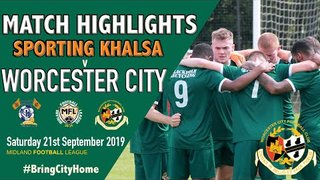 Sporting Khalsa 4 Worcester City 0 - 21st September 2019