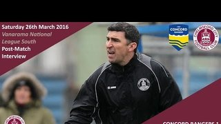 Concord Rangers Reaction: Kevin Maher